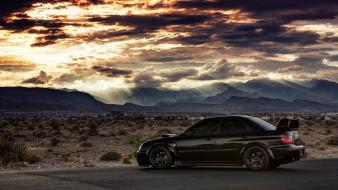 Tuning tuned black subaru impreza wrx sti Wallpaper
