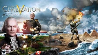 Video games civilization v wallpaper