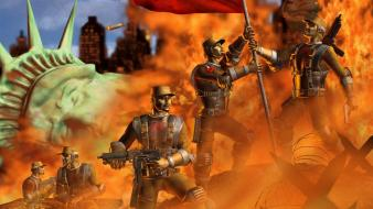 Video games command and conquer red alert 2 wallpaper
