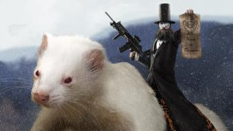 Video games lethal ferret riding lethalfrag wallpaper