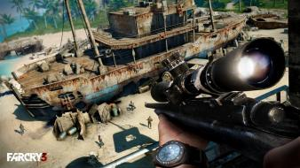 Video games sniper rifles fps far cry 3 Wallpaper
