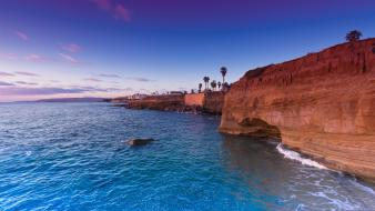 Waves cliffs usa california hdr photography sea wallpaper