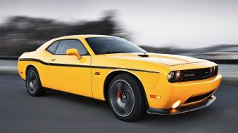 Yellow cars dodge challenger srt8 Wallpaper