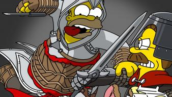 Assassins creed homer simpson the simpsons ned flanders wallpaper