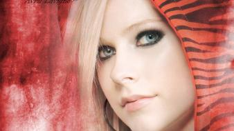 Avril lavigne music celebrity red background musican wallpaper