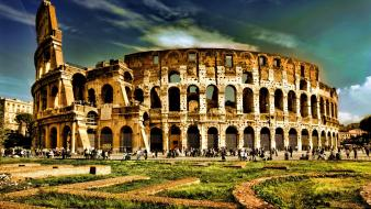 Buildings rome colosseum arena hdr photography remake wallpaper