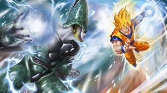Cell goku dragon ball z gt wallpaper