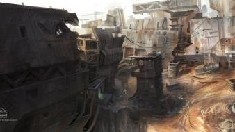 Cityscapes halo odst digital art concept artwork wallpaper