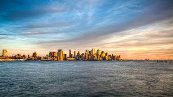 Cityscapes new york city lakes cities skies wallpaper