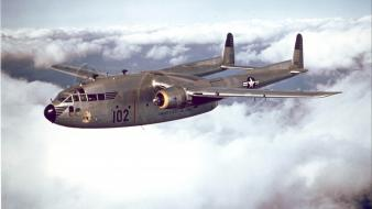 Fairchild aircrafts skies c-119 flying box car wallpaper