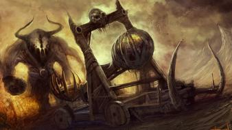 Fantasy art artwork catapult christian quinot wallpaper