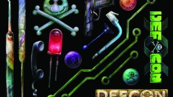 Hacking artwork defcon (hacking conference) stickers Wallpaper