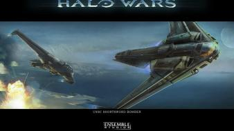 Halo wars spaceships digital art concept artwork wallpaper