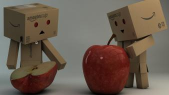 Happy sad amazon apples boxes wallpaper
