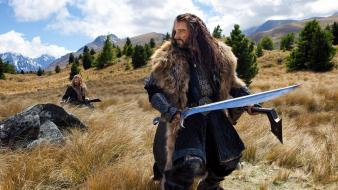 Hobbit middle-earth swords thorin oakenshield richard armitage wallpaper
