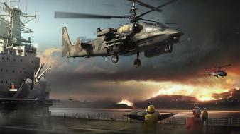 Military helicopters ka-52 wallpaper