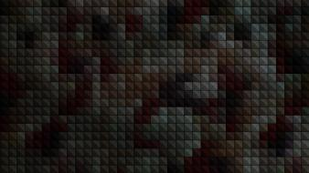 Minimalistic red gray pixels camouflage squares pixel dark wallpaper