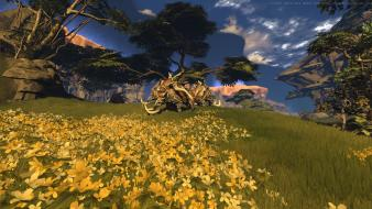 Mmorpg multiscreen firefall first person shooter composite wallpaper