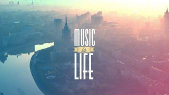 Music cityscapes russia typography moscow rivers life wallpaper