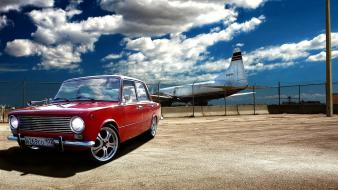 Old cars lada 2101 vaz skies russian wallpaper