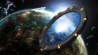 Outer space stargate wallpaper