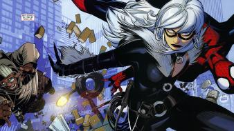 Spider-man marvel comics black cat (comics) wallpaper