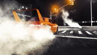 Streets night cars dodge vehicles challenger burnout spoiler wallpaper