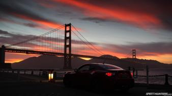 Sunset cars golden gate bridge speedhunters.com scion fr-s wallpaper