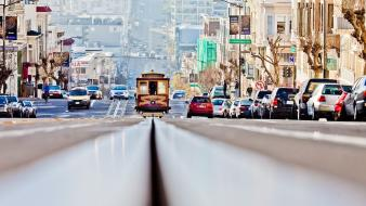 Tram san francisco roads track downhill cable wallpaper