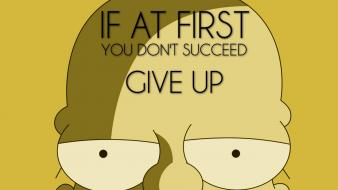 Tv quotes funny homer simpson the simpsons wallpaper