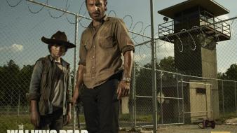 Walking dead the andrew lincoln chandler riggs wallpaper