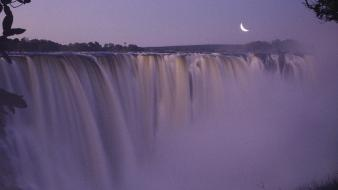 Zimbabwe victoria falls moonrise wallpaper