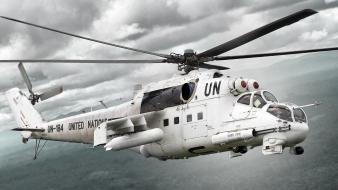 Aircraft mi-24 aviation united nations tilted view Wallpaper