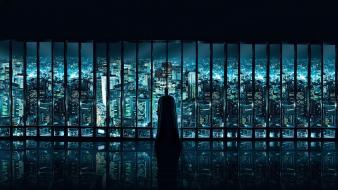 Batman cityscapes movies window panes the dark knight wallpaper