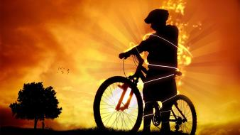 Bicycles digital art Wallpaper