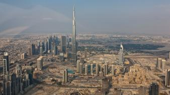 Buildings dubai skyscapes citylife burj khalifa skies wallpaper