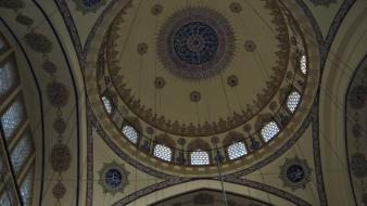 Buildings mosque dome 2009 islamic manisa wallpaper