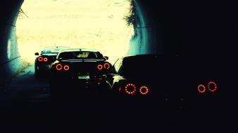 Cars nissan gt-r r35 taillights wallpaper