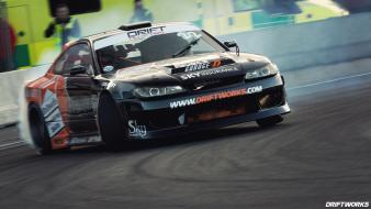 Cars smoke vehicles nissan silvia drifting races Wallpaper