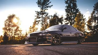 Cars tuning black jdm toyota chaser wallpaper