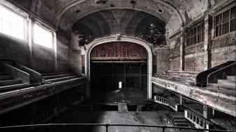 Cityscapes abandoned theater wallpaper