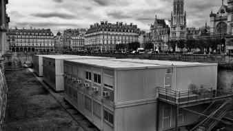 Cityscapes france buildings europe monochrome james lapett wallpaper