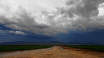 Clouds nature deviantart roads end wallpaper