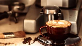 Coffee cups brown cappuccino wallpaper