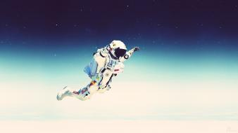 Courage felix baumgartner stratosphere free fall wallpaper