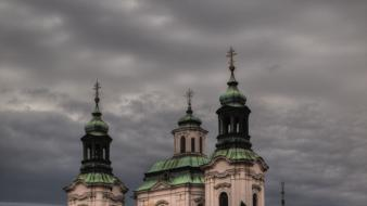 Czech church prague republic cathedral hdr photography wallpaper
