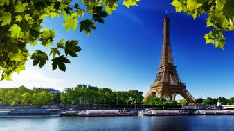 Eiffel tower paris water france wallpaper