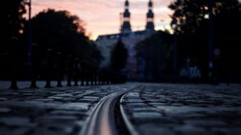 Floor cityscapes streets night urban poland poznan wallpaper