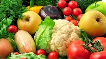 Fruits vegetables Wallpaper