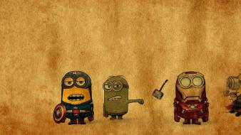 Funny animation despicable me minions crossovers avengers wallpaper